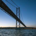 Ponte 25 de Abril ao por do sol
