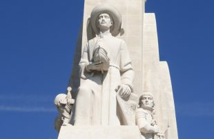 Monument of Discoveries. On the prow, Henry, the Navigator