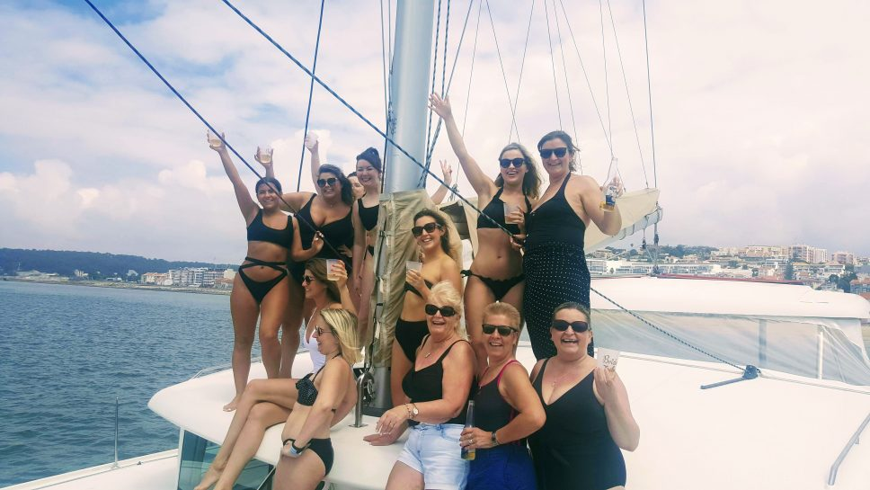 Party on a catamaran