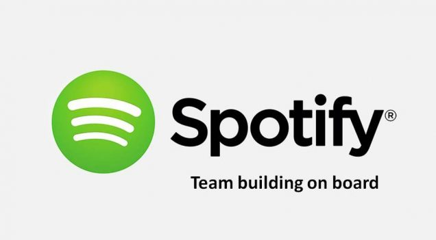 Logo Spotify. Boat event in Lisbon