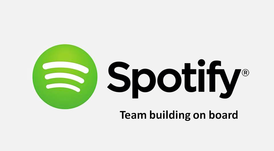 Logo Spotify. Boat event in Lisbon