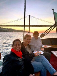 Buffet a bordo durante um evento corporativo em Lisboa